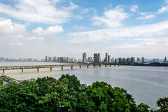 The first bridge of Qiantang river Royalty Free Stock Photography