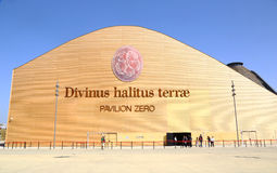 First building of Expo 2015 in Milan: Pavilion Zero Stock Image