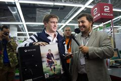 First buyer XBOX ONE in Russia Stock Photography