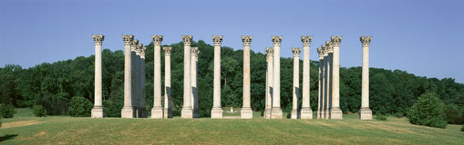 The first Capitol Columns of the United States at the National Arboretum, Washington D.C. Royalty Free Stock Image