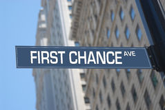 First chance Avenue Stock Photography