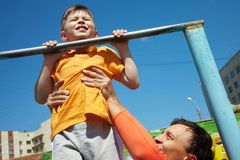 First chin-up Royalty Free Stock Photography