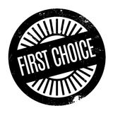 First Choice rubber stämpel Royaltyfria Foton