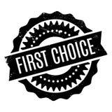 First Choice rubber stämpel Royaltyfri Bild