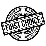 First Choice rubber stamp Royalty Free Stock Photography