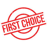 First Choice rubber stamp Stock Photo