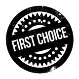 First Choice rubber stamp Royalty Free Stock Image