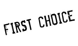First Choice rubber stamp Royalty Free Stock Photo