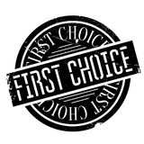 First Choice rubber stamp Royalty Free Stock Images