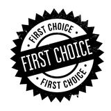 First Choice rubber stamp. Grunge design with dust scratches. Effects can be easily removed for a clean, crisp look. Color is easily changed Stock Photos