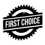 First Choice rubber stamp. Grunge design with dust scratches. Effects can be easily removed for a clean, crisp look. Color is easily changed Stock Image