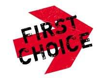 First Choice rubber stamp Stock Images