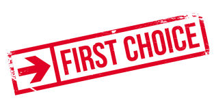 First Choice rubber stamp Stock Image