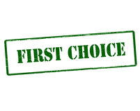 First choice. Rubber stamp with text first choice inside,  illustration Stock Photos