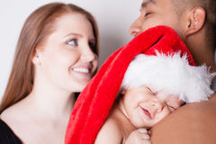 First Christmas for baby Royalty Free Stock Image