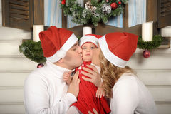 First Christmas for baby Royalty Free Stock Photo