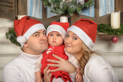 First Christmas for baby Stock Photo