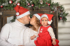 First Christmas for baby Royalty Free Stock Photos