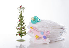 First Christmas New Year baby Royalty Free Stock Images