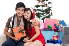 First Christmas together Stock Images