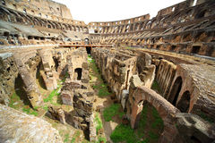 On first circle of arena in ancient Coliseum Royalty Free Stock Photos