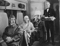 FIRST CLASS. (All persons depicted are no longer living and no estate exists. Supplier grants that there will be no model release issues royalty free stock image