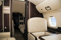 First Class. (airplane for vip flight Stock Photos