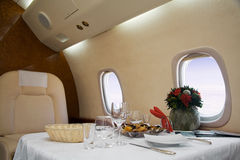 First Class. (airplane for vip flight Stock Photography