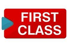 First Class Button. Vector icon Stock Photo