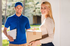 First class delivery service. Royalty Free Stock Photography