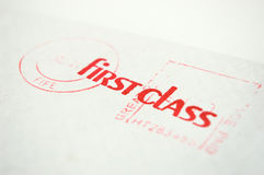 First class envelope Royalty Free Stock Images