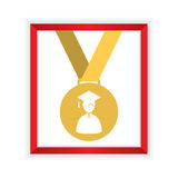 First Class Honors Gold Medal Graduation. Vector Illustration Stock Photography