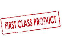 First class product. Rubber stamp with text first class product inside,  illustration Stock Image