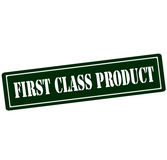 First class product. Rubber stamp with text first class product inside, vector illustration Stock Photo