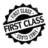 First Class rubber stamp. Grunge design with dust scratches. Effects can be easily removed for a clean, crisp look. Color is easily changed Royalty Free Stock Photography