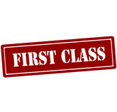 First class. Rubber stamp with text first class inside,  illustration Stock Photography