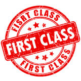 First class rubber stamp Stock Image