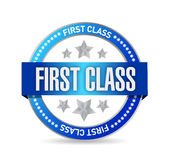 First class seal stamp illustration design. Over a white background Royalty Free Stock Images