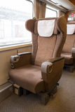 First class seat. On the train Stock Image