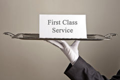 First class service Stock Images