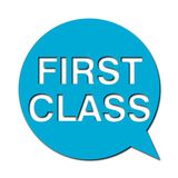 First class with shadow, Speech Bubble. Speech Bubbles first class with shadow, vector icon Royalty Free Stock Images