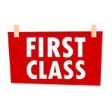 First Class Sign - illustration Royalty Free Stock Image
