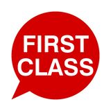 First class, Speech Bubbles. Speech Bubbles first class, vector icon Royalty Free Stock Images