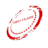 First class stamp. On a white background Stock Image