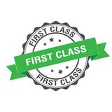 First class stamp illustration. First class stamp seal illustration design Royalty Free Stock Image