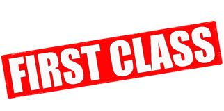 First class. Stamp with text first class inside,  illustration Royalty Free Stock Photo