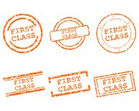 First class stamps. Detailed and accurate illustration of first class stamps Royalty Free Stock Photos