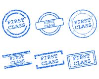 First class stamps. Detailed and accurate illustration of first class stamps Stock Photography