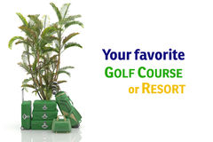First class trip 5 stars - Golf course Royalty Free Stock Photos