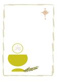 First Communion. Ticket for the celebration of First Communion Royalty Free Stock Photo